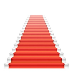Front staircase and red carpet vector