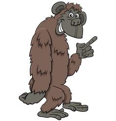 gorilla ape wild cartoon animal character vector image