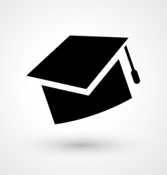 Graduate hat icon vector