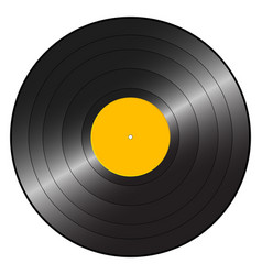 Gramophone record orange vector