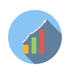Graph chart flat icon vector