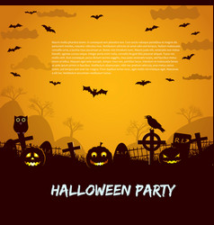 halloween party leaflet vector image