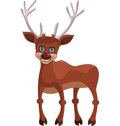 Happy deer vector image