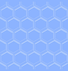hexagonal seamless embossed background in light vector image