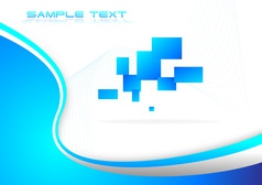 Hi tech blue background vector image