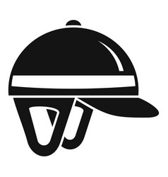 Horseback riding helmet icon simple style vector