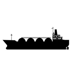 Icon gas tanker lng carrier natural gas carrier vector