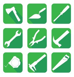 Icons on the theme of building vector image