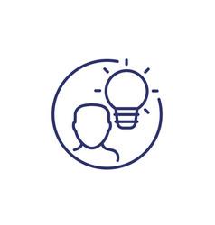 Idea or insight line icon on white vector