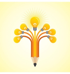 Light-bulbs hands make pencil vector