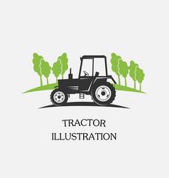 logotype tractor vector image