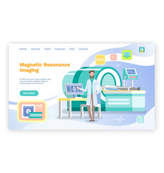 Medical web site page template mri nuclear vector