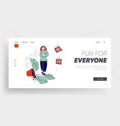 naughty kids make mess at home website landing vector image