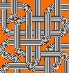 Orange labyrinth vector