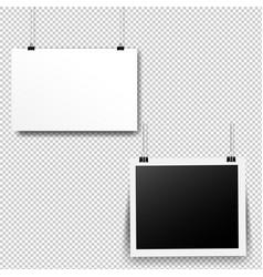 paper cards set transparent background vector image
