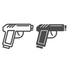 pistol line and glyph icon gun vector image