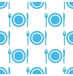 Plate seamless pattern vector image