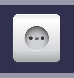 realistic socket icon eps 10 vector image