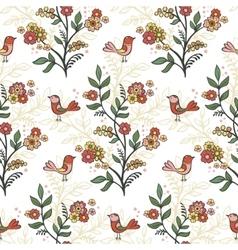 Retro romantic floral background vector image