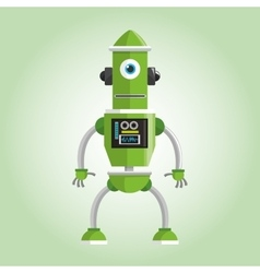 Robot design Technology concept humanoid icon vector image