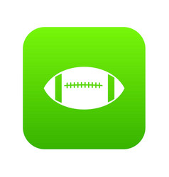 rugby ball icon digital green vector image