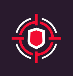 Security breach icon vector