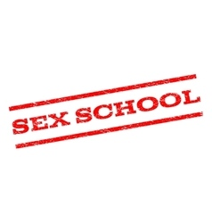 Sex School Watermark Stamp vector