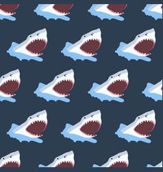 Shark seamless pattern vector