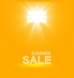 super summer sale banner with scene and projector vector image