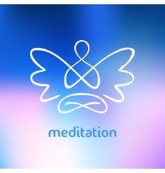 Symbol yoga meditation spirituality vector