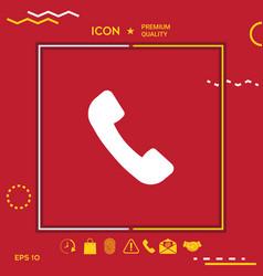 telephone handset symbol telephone receiver icon vector image