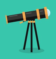 Telescope flat design vector