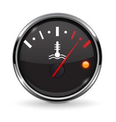 Temperature car gauge black round device meter vector