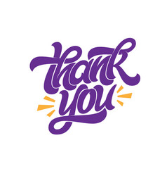 thank you banner handwritten brush lettering on vector image