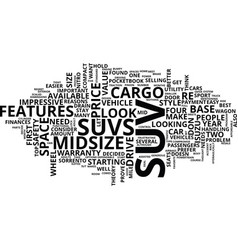 The best suvs under text background word cloud vector