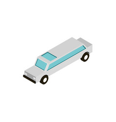 transport limousine vehicle isometric icon vector image