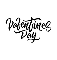 Valentines Day Lettering Badge vector image