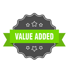 Value added isolated seal value added green label vector
