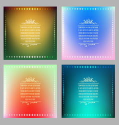 vibrant gradient background set vector image