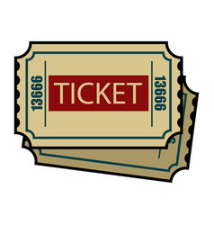 vintage colorful cinema tickets concept vector image