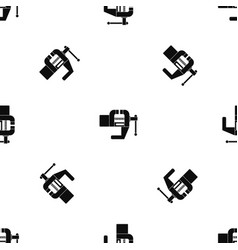 vise tool pattern seamless black vector image