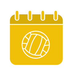 volleyball championship date glyph color icon vector image