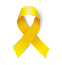 Yellow ribbon isolated vector