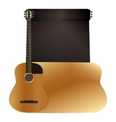 background acoustic guitar vector image vector image