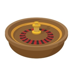 Casino symbol roulette cartoon icon vector image vector image