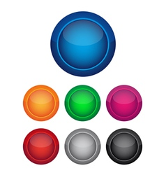 Colorful buttons vector image vector image