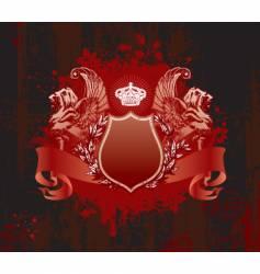 crown on grunge background vector image