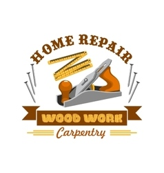 Home repair tool symbol with instrument vector image vector image