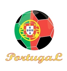 Portugal football icon vector image
