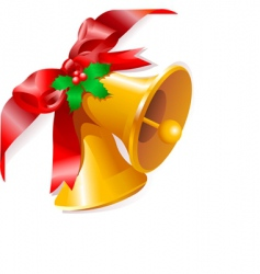 Christmas bells corner vector image vector image